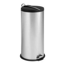 Honey Can Do Round Step Can With Bucket 8 Gallon Trash Can - Trash meets its modern match in the Honey Can Do 30 Liter Round Step Can With Bucket. Crafted with durable stainless steel, this round 7.9-gallon trash can boasts a steel foot pedal for easy hands-free operation, a removable inner plastic bucket for quick emptying, and a deep recessed lid that neatly hides trash bags from view. A fold-down metal handle on the lid makes for easy transportation, too.About Honey-Can-DoHeadquartered in Chicago, Honey-Can-Do is dedicated to helping you organize your life. They understand that you need storage solutions that are stylish and affordable at the same time. Honey-Can-Do focuses on current design trends and colors to create products that fit your decor tastes while simultaneously concentrating on exceptional quality. When buying a Honey-Can-Do product, you can be sure you are purchasing a piece that has met safety control standards and social compliance methods.