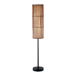 adesso maui lamp floor lamp each antique bronze maui lamp has. Black Bedroom Furniture Sets. Home Design Ideas