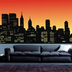 StickONmania - Skyscrapers Sticker - A a city skyscraper design for your wall Decorate your home with original vinyl decals made to order in our shop located in the USA. We only use the best equipment and materials to guarantee the everlasting quality of each vinyl sticker. Our original wall art design stickers are easy to apply on most flat surfaces, including slightly textured walls, windows, mirrors, or any smooth surface. Some wall decals may come in multiple pieces due to the size of the design, different sizes of most of our vinyl stickers are available, please message us for a quote. Interior wall decor stickers come with a MATTE finish that is easier to remove from painted surfaces but Exterior stickers for cars,  bathrooms and refrigerators come with a stickier GLOSSY finish that can also be used for exterior purposes. We DO NOT recommend using glossy finish stickers on walls. All of our Vinyl wall decals are removable but not re-positionable, simply peel and stick, no glue or chemicals needed. Our decals always come with instructions and if you order from Houzz we will always add a small thank you gift.