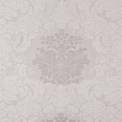 Walls Republic - Opulence Grey Wallpaper S43729, double roll - Opulence is a light grey all over damask pattern with a regal look. Opulence gives you a classic, traditional aesthetic perfect for a rich bedroom or living room.