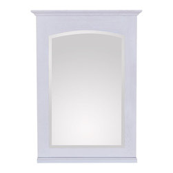 "Avanity - Westwood 24 x 33"" Mirror - White Washed - The Westwood 24 in. x 33 in. chinese oak framed mirror features a white washed finish with a simple transitional design. It matches the Westwood vanity for a coordinated look and includes mounting hardware that makes leveling easy. The mirror hangs vertically and includes a wood base shelf for your bath essentials.; Birch solid wood in White Washed finish; Beveled mirror; Hangs Vertical; Wood shelf; Wood cleat at back for easy hanging; Dimensions:24""W x 33""H"