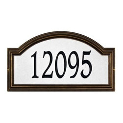 Whitehall Providence Arch Reflective Wall Address Plaque - About WhitehallWhitehall is the world's largest manufacturer of weathervanes, but the business points a lot more ways than east, west, north, and south. Inspired by traditional handcrafted designs and quality, Whitehall also makes gorgeous mailboxes, address plaques, and outdoor accents. They're based in western Michigan, building American tradition and quality into every product they make.
