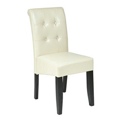 Office Star - Office Star Metro Cream Eco Leather Parsons Chair - Metro Cream Eco Leather Parsons Chair by Office Star