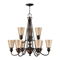 Hinkley Lighting - Hinkley Lighting 4168OB Mayflower Olde Bronze 9 Light Chandelier - Hinkley Lighting 4168OB Mayflower Olde Bronze 9 Light Chandelier