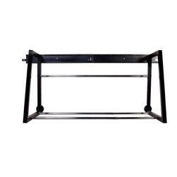 HyLoft - HyLoft Multi-Tire Storage Rack - The HyLoft multi-tire rack storage rack is a great solution for storing seasonal tires, recreational tires or track tires and wheels. The installation is simple. The black master rail attaches to wall studs of finished or unfinished walls and the black rack clips in to the master rail. The multi-tire rack accommodates various tire sizes as the chrome telescoping support bars adjust in width and depth. The load capacity is 400 lbs.