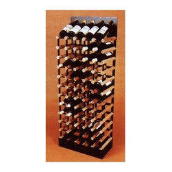 Vinotemp - 60 Bottle Cellar Trellis Wine Rack - Free standing. Made from wood and powder-coated metal. Fits 60 bottles. 20.25 in. W x 11 in. D x 46.5 in. H (60 lbs.). Minimal assembly required. Made in USA. Custom made: 8 to 10 lead time. Top row allows for display 5 bottles. Can be used as freestanding unit. 3.75 in. racking. Fit most 750-ml bottles. Keeps bottles safely organized individually. Triple sanded edges. Prevent label tearing and splinters. Completely customizable. Built to order. WarrantyWe handmade our wood wine racks just for you! These racks are a great modular option to build your own wine room.