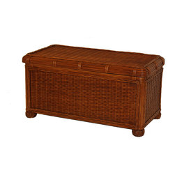 Wicker Paradise - Small Wicker Trunk - Savannah - The Savannah Wicker Storage Trunk small Size is perfect for storage of toys,blankets and linens. It features inside wood lining to protect your linens and delicate items. Wicker bun feet and a distinctive rattan braid add charm to this quite functional and versatile item.