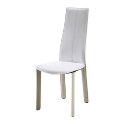 Whiteline Imports - Whiteline Imports Allison Dining Chair [Set of 4] - Matching Stitching, Dining Chair 4