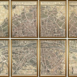 Guillaume De L'Isle - New Giclee Print Set  De L'Isle Plan de Paris - Product Details