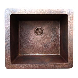Santa Fe - Santa Fe Cristo Copper Sink - Santa Fe Copper sinks combine the best materials, handcrafted detail, and excellent prices to provide you with unsurpassed value. The Santa Fe Copper series offers a wide selection of undermount vanities and farmhouse style kitchen sinks to accent any style of kitchen or bathroom.