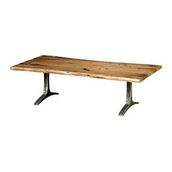 TerraSur - Fortaleza Coffee Table - Bring the unfussy feel of a totally upgraded picnic into your living room with this solid wood-and-steel coffee table. The hand carved, free-form edges reflect a craftsmanship you'll adore, and the blonde color is clean and versatile.
