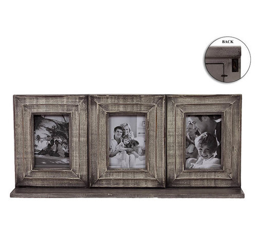 Benzara - Exquisite and ClassyWooden Picture Frame - This wooden picture which has three frames helps you keep three precious pictures of your life. You can keep inside these frames your most favorite photo and keep recollecting the memories every day. You can install this frame on wall with the help of a hook which is behind the frame. Cleaning this frame too is an easy job and hence it can be maintained well. Apart from using this picture frame for decorating your walls, you can also gift it as a present to your loved ones. They are sure to go wow at the sight of this beautiful picture frame. They too will put inside these frames some of their best pictures and keep it in their house. In this way you can help them make their house beautiful too. This photo frame is a memorable as well as the best home decor you can have and if you have not yet got one, get one. This wooden picture frame measures 25.5 inch (width) x4.5 inch (D) x11 inch (H); Helps in preserving old memories; Memorable home decor