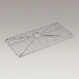 """KOHLER - KOHLER Stainless steel sink rack, 32-3/4"""" x 16"""" for K-5283 Strive(TM) kitchen si - Ensure the long-lasting beauty of your Strive sink with this bottom basin rack. Designed to fit into the extra-large single bowl of the K-5283-NA Strive kitchen sink, this rack helps safeguard fragile dishes and protects the sink's stainless-steel surface"""