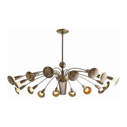 Valdez Chandelier, Brass