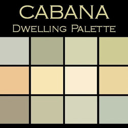 "Benjamin Moore Paint colors - Color in Space Cabana Palette™--cool & refreshing - Each palette consists of twelve Benjamin Moore® paint colors in 4"" swatches and no colors are repeated. The intentional selection of the twelve colors ensures that they are energetically balanced and will create the feeling of the dwelling for which it is named."