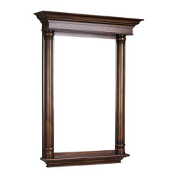 American Imaginations - 30-in. W x 42-in. H Traditional Birch Wood-Veneer Wood Mirror - This traditional wood mirror belongs to the exquisite Antique design series. It features a rectangle shape. This wood mirror is designed to be installed as an wall mount wood mirror. It is constructed with birch wood-veneer. This wood mirror comes with a lacquer-stain finish in Distressed Antique Cherry color. Victorian style mirror constructed with high quality premiumglass with bevelled edges This Wood Mirror features Brushed Nickel hardware. No assembly required. Accessories not included.