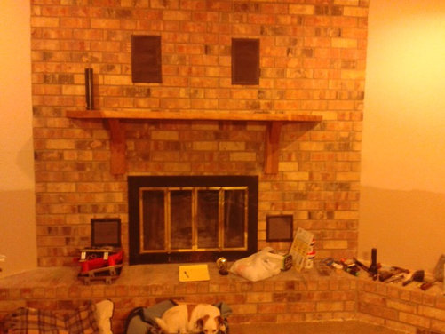 height of fireplace mantel and tv above