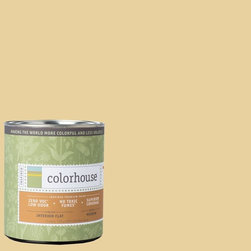 Inspired Flat Interior Paint, Grain .03, Quart - Colorhouse paints are zero VOC, low-odor, Green Wise Gold certified and have superior coverage and durability. Our artist-crafted colors are designed to be easy backdrops for living. Colorhouse paints are 100% acrylic with no VOCs (volatile organic compounds), no toxic fumes/HAPs-free, no reproductive toxins, and no chemical solvents.
