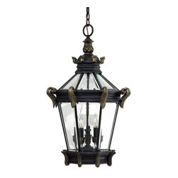Minka Lavery - Minka Lavery Outdoor 8934-95 Stratford Hall 5 Light Pendant - Heritage with Gold Highlights Finish