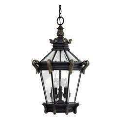 Minka Lavery - Minka Lavery Outdoor 8934-95 Stratford Hall 5 Light Pendant - Heritage with Gold Highlights Finish