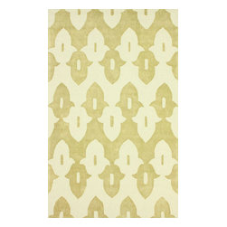 nuLOOM - Contemporary 6' x 9' Gold Hand Hooked Area Rug Cotton and Wool Trellis VST23 - Made from the finest materials in the world and with the uttermost care, our rugs are a great addition to your home.