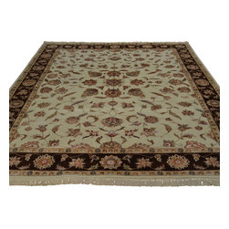 8'x10' Wool and Silk All Over Design Kashan Hand Knotted Oriental Rug Sh18614 - Our fine Oriental hand knotted rug collection consists of 100% genuine, hand-knotted and hand-woven rugs from Persia, China, and other areas throughout Asia. Classic, traditional, and offered in a wide range of elaborate designs, every rug is guaranteed to serve as a beautiful and striking element in any interior setting.