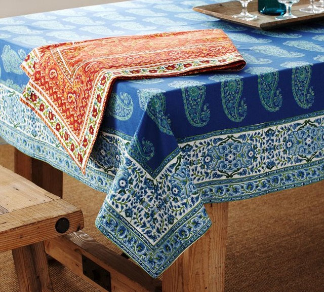 Traditional Tablecloths by Pottery Barn