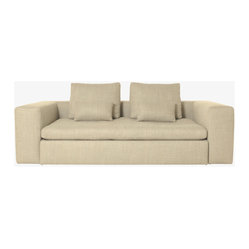 Sidney 3 Seat Sofa Bed, Natural Fabric