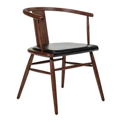 #N/A - Orebro Arm Chair - Orebro Arm Chair. solid wood in walnut finish with leatherette seat