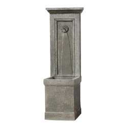 Campania - Auberge Garden Water Fountain, Alpine Stone - The Auberge Garden Water Fountain is a lovely and unique style made of durable cast stone. Available in different colors for the finish.