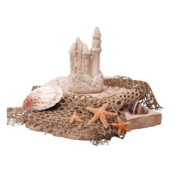 Deco Glow - Sand Castle Tea Light Holder, Set of 4 (Candle Not Included) - A  completely  unique  way  to  give  your  child  a  little  bit  of  comfort  at  night  as  she  falls  asleep.  This  sand  castle  tea  light  holder  makes  the  perfect  ocean-themed  night  light.  Pair  it  with  any  of  our  beach  candle  sets,  or  use  it  as  standalone  coastal  decor  for  your  bedroom,  bathroom,  or  even  at  a  beach-themed  wedding.