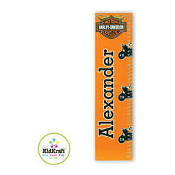 Kidkraft - Kidkraft Kids H-D Boys Growth Chart - This Growth Chart Can be personalized with any name up to 9 characters in length. All lower case, Font, color and graphic art only as shown, Hardware for hanging is included.