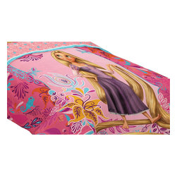 Franco Manufacturing Company INC - Disney Tangled Letting Down Hair Twin-Full Bed Comforter - Features: