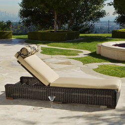 "RST Outdoor - Resort Chaise Lounger - Resort Chaise Lounger sets a new standard for luxury quality and design in outdoor living furniture. These five-way adjustable chaise loungers are a perfect accent to a superb seating collection that delivers commercial quality for design conscious home owners, hotels, resorts, spas or anywhere that only the best in patio furnishings will do. Perfect for coastal living. Features: -Chaise lounger.-Hand woven, commercial grade, thick and full round polyethylene.-Strong, lightweight, powder coated aluminum frame.-Luxurious, extra deep modular.-Material: Rattan.-Holds up great in salt and chlorinated environments.-UV, weather and fade resistant.-Cushion included.-Weight Capacity: 275 lbs.-Product Care: Easy to clean frame, simply rinse clean with hose and mild cleanser.-Solid Wood Construction: No.-Cushion or Sling Fabric Color: Heather beige.-Mildew Resistant: Yes.-Rust Resistant: Yes.-Detachable Cushion: Yes.-Removable Cushion Fabric: Yes.-Cushion Material: Sunbrella fabric.-Water Resistant or Waterproof: Water resistant.-Welt on Cushions: No.-Cushion Fill Material: Polyfill.-Arms: No.-Glides: No.-Stacking: No.-Folding: No.-Reclining Mechanism Details: 5-Way adjustable backrest.-Umbrella: No.-Seating Capacity: 1.-Hardware Included: Yes.-Swatch Available: No.-Collection: Resort.Dimensions: -Seat Height Without Cushion: 14"".-Back Cushion Thickness: 3"".-Back Cushion Width - Side to Side: 28"".-Seat Cushion Thickness: 3"".-Seat Cushion Width - Side to Side: 26"".-Leg Width - Side to Side: 2"".-Leg Depth - Front to Back: 2"".-Fully Reclined Depth or Length: 80"".-Weight of Seat Cushion: 7 lbs.-Overall Height - Top to Bottom: 15"".-Overall Width - Side to Side: 28"".-Overall Depth - Front to Back: 80"".-Overall Product Weight: 111 lbs.Assembly: -Assembly Required: No.Warranty: -1 Year warranty."