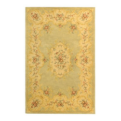 """Safavieh - Bergama Green/Brown Area Rug BRG166B - 2'3"""" x 12' - The Bergama Collection includes beautiful reproductions which are hand-tufted to create the same symmetrical knots used in the antique rugs in Safavieh's private archival collection of Peshawar rugs. Made in India, the pure wool rugs in this collection recreate the design and quality of Peshawars made for the top end of the market to a broader base of customers with superior hand tufted quality."""