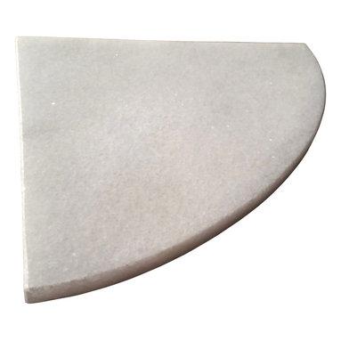 "Stone Zone - 8"" Marble Shower Corner Shelf (Crystal Ice) Stone Bathroom Caddy Soap Dish - ***Crystal Ice Marble Shower Corner Shelf ***"