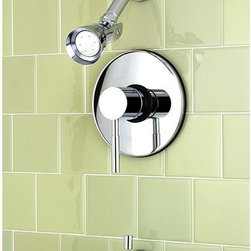 None - Concord Chrome Tub and Shower Faucet - Bring new life to your bathroom decor with the versatile styling of the Concord tub and shower faucet setHome improvement hardware boasts sturdy brass constructionTub and shower faucet is pressure-balanced