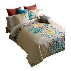 Shangri-la Duvet Set, Full/Queen