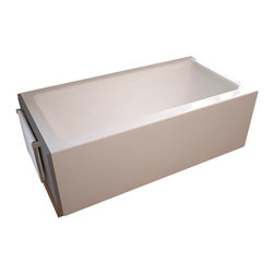 Venzi - Venzi Madre 30 x 60 Front Skirted, Air Massage Tub - The Madre's simplicity is it's greatest strength. This gorgeous one piece tub is perfect for any retro fitting project and offers a stunning one piece skirt finish that completes any bathing room.