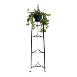 "Enclume - 4 Tier Plant Stand Hammered Steel - Dimensions: 17.5""W x 15""D x 53.5""H"