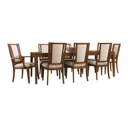 Hooker Furniture - Rectangle Dining Table - Is your clan growing? This is the rectangular dining table for you! Made from solid hardwoods and rich cherry veneers, this table has a sophisticated edge that will suit contemporary or traditional settings. An 18-inch leaf makes room for eight diners.