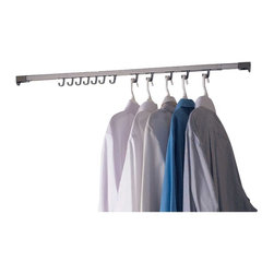 Renovators Supply - Closet Organizers Chrome 48'' to 80'' Expandable Closet Trol - Closet Expandable Rod. Organize your closets with our Closet Trolley leaving you with one less thing for you to think about. Comes with 20 hooks. Expands from 48 in. to 80 in.