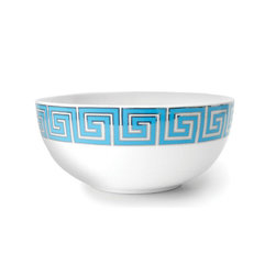 Greek Key Serving Bowl - These Jonathan Adler bowls are part of a full dinnerware set. I love the Mediterranean vibe from the blue and white combination.