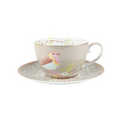 Pip Studio Home - Pip Studio Home Early Bird Porcelain Cappuccino Cup & Saucer -