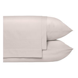 Nine Space - Pleated Sheet Set, Queen, Grey - Give your bed the perfect foundation for layering on color and texture with these luxurious linens loomed from pure, long-staple organic cotton with clean, pleated detailing. This set is so ecofriendly, you can rest easy knowing that it's free from harmful pesticides. 250 thread count.