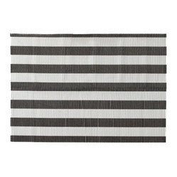 Boots & Barkley Patterned Litter Mat, Black/White Stripe