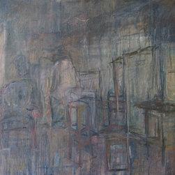 "Tom Hamilton, 1951 - 2011, Oil on Canvas (25) - Unsigned oil on canvas; 60.5""w. X 42.5""h."
