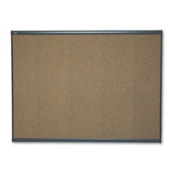 Quartet - Quartet 48 x 36 in. Cork Prestige Bulletin Board - QRTB244G - Shop for Bulletin Boards from Hayneedle.com! You can pin-up important announcements on the Quartet 48 x 36 in. Cork Prestige Bulletin Board. This makes it ideal for use around school or office corridors. It can also be used to pin-up pictures during presentations. Featuring a self-healing cork surface it hides pinholes and also prevents it from crumbling or fading over time. Moreover its dense fiberboard backing reduces moisture and also avoids warping. Because of its flexible mounting system this made-in-the-USA board can be mounted on a fabric or dry wall.About United StationersDedicated to making life in the office more organized efficient and easier United Stationers offers a wide variety of storage and organizational solutions for any business setting. With premium products specifically designed with the modern office in mind we're certain you will find the solution you are looking for.From rolling file carts to stationary wall files every product in the United Stations line is designed with one simple goal: to improve office efficiency. In turn you will find increased productivity happier more organized employees and an office setting that simply runs better with the ultimate goal of increasing bottom line profits.