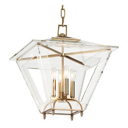Hudson Valley Lighting - Hudson Valley Lighting 7419-AGB Andover Aged Brass Pendant - Hudson Valley Lighting 7419-AGB Andover Aged Brass Pendant