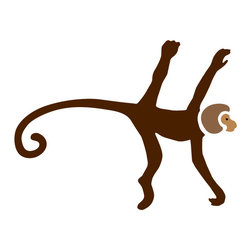 My Wonderful Walls - Monkey Stencil 3 for Painting - - Monkey wall stencil for jungle theme wall mural